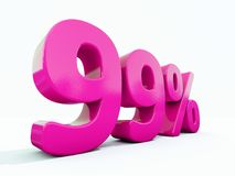 99 Percent Pink Sign. 3d Illustration Pink 99 Percent Discount Sign, Sale Up to 99, 99 Sale, Pink Percentages Special Offer, Save On 99 Icon, 99 Off Tag, Pink 99 royalty free illustration