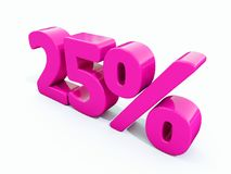 25 Percent Pink Sign. 3d Illustration 25 Percent Discount Sign, Sale Up to 25, 25 Sale, Pink Percentages Special Offer, Save On 25 Icon, 25 Off Tag, 25 Stock Image