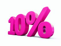 10 Percent Pink Sign. 3d Illustration 10 Percent Discount Sign, Sale Up to 10, 10 Sale, Pink Percentages Special Offer, Save On 10 Icon, 10 Off Tag, 10 Vector Illustration