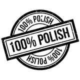 100 percent polish rubber stamp. Grunge design with dust scratches. Effects can be easily removed for a clean, crisp look. Color is easily changed stock illustration