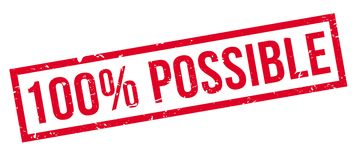 100 percent possible rubber stamp. On white. Print, impress, overprint Stock Photography