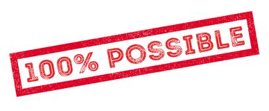 100 percent possible rubber stamp. On white. Print, impress, overprint Stock Photo