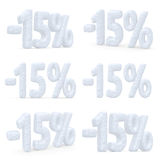 15 percent price cut off christmas offer set Stock Images