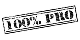 100 percent pro black stamp. Isolated on white background Royalty Free Stock Photos