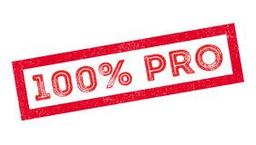 100 percent pro rubber stamp. On white. Print, impress, overprint Stock Image