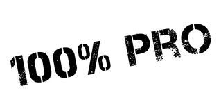 100 percent pro rubber stamp. On white. Print, impress, overprint Royalty Free Stock Images