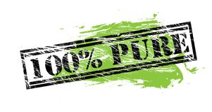 100 percent pure black and green stamp on white background. 100 percent pure black and green stamp Royalty Free Illustration
