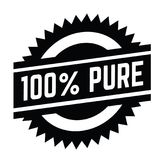 100 percent pure stamp on white. Background . Sign, label, sticker Vector Illustration