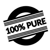 100 percent pure stamp on white. Background . Sign, label, sticker Stock Illustration