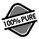 100 percent pure stamp on white. Background . Sign, label, sticker Royalty Free Illustration