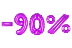 90 percent, purple color royalty free stock images