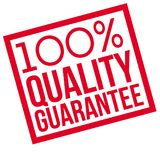 100 percent quality Guarantee typographic stamp. Typographic sign, badge or logo Royalty Free Stock Image