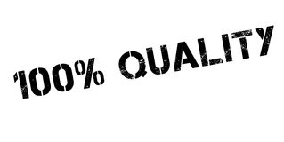 100 percent quality rubber stamp. On white. Print, impress, overprint Stock Photo