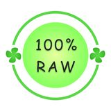100 percent raw label royalty free stock photo