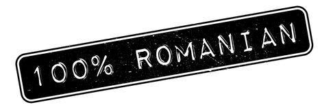 100 percent romanian rubber stamp. Grunge design with dust scratches. Effects can be easily removed for a clean, crisp look. Color is easily changed Stock Photos