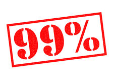 99 PERCENT Rubber Stamp. 99 PERCENT red Rubber Stamp over a white background Stock Photography