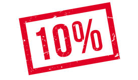 10 percent rubber stamp Stock Photo