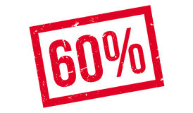 60 percent rubber stamp Stock Photo