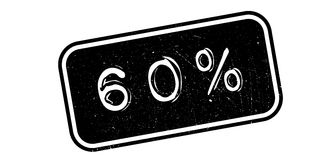 60 percent rubber stamp. On white. Print, impress overprint Royalty Free Stock Photography