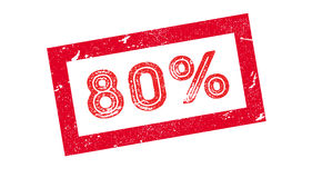 80 percent rubber stamp. On white. Print, impress overprint Royalty Free Stock Photos