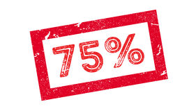 75 percent rubber stamp. On white. Print, impress overprint Royalty Free Stock Photography