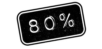 80 percent rubber stamp. On white. Print, impress overprint Stock Photo