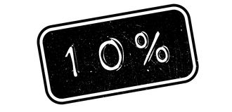 10 percent rubber stamp. On white. Print, impress overprint Royalty Free Stock Photo