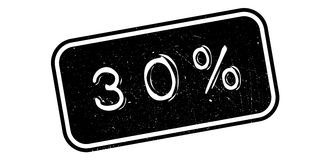 30 percent rubber stamp. On white. Print, impress overprint Stock Photography