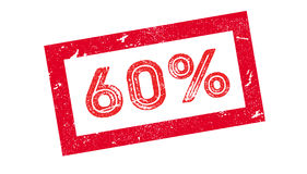 60 percent rubber stamp. On white. Print, impress overprint Royalty Free Stock Images