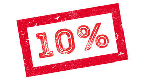 10 percent rubber stamp Royalty Free Stock Image