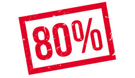 80 percent rubber stamp. On white. Print, impress overprint Stock Photography