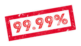 99.99 percent rubber stamp. On white. Print impress overprint Stock Photos
