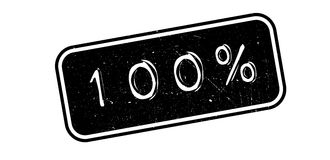 100 percent rubber stamp. On white. Print, impress overprint Stock Illustration