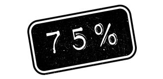 75 percent rubber stamp. On white. Print, impress overprint Royalty Free Stock Photo