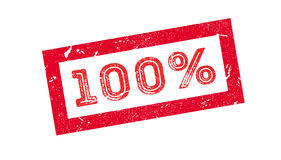 100 percent rubber stamp. On white. Print, impress overprint Royalty Free Illustration