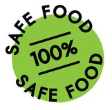 100 percent safe food label. On white background stock illustration