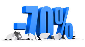 70 percent sale and discount advertisement concept Royalty Free Stock Photo