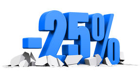 25 percent sale and discount advertisement concept Stock Images