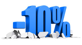 10 percent sale and discount advertisement concept Royalty Free Stock Photos