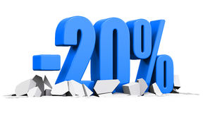 20 percent sale and discount advertisement concept Royalty Free Stock Photo