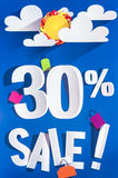 30 percent sale discount sign Royalty Free Stock Photo