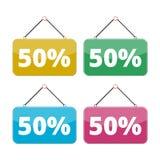 50 percent sale icon set, Discount 50%. Vector icon stock illustration
