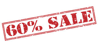 60 percent sale red stamp Royalty Free Stock Photo