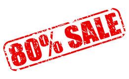 80 PERCENT SALE red stamp text Stock Photos