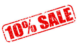 10 PERCENT SALE red stamp text. On white Royalty Free Stock Image