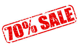70 PERCENT SALE red stamp text Royalty Free Stock Image