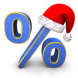 Percent Santa Cap Stock Images