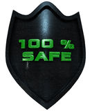100 percent secure. Security concept 3d rendering with clipping path vector illustration