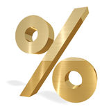 Percent sign Royalty Free Stock Photography
