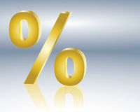 Percent sign. Symbolic of discount or interest rate Royalty Free Stock Photo